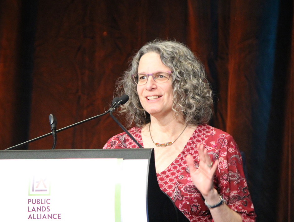Photo of Susan Sachs at PLA conference