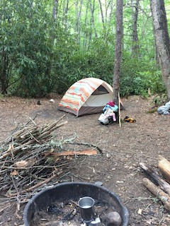 Mother's Day camping