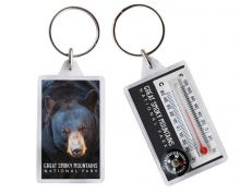 Black Bear Thermometer Keychain