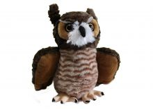 "12"" Great Horned Owl Stuffed Plush"