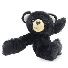 Hugger Black Bear Stuffed Plush Slap Bracelet