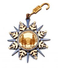 GSMNP Snowflake Wood Ornament