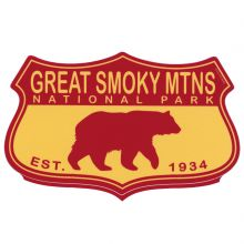 Bear on Shield GSMNP Sticker