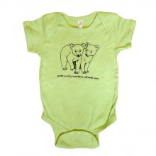 Bear Cub Onesies - 18 M - KEY LIME