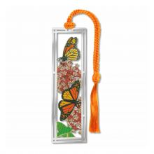 Monarch Butterfly and Milkweed Book Mark