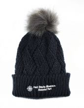 Cross Hatch Pom Pom Beanie Hat
