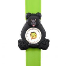 Wild Republic Black Bear Kids Slap Watch