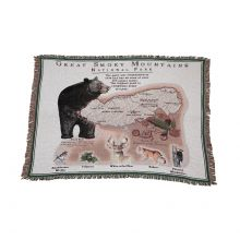 Great Smoky Mountains National Park Bear Tapestry Throw Rug