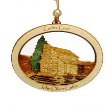 John Oliver Cabin Wood Ornament