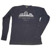 Great Smoky Mountains Park Logo Long Sleeve Thermal T-shirt