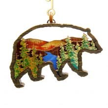 Great Smoky Mountains National Park Bear Shaped Wood Ornament