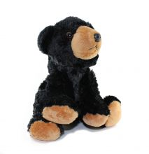 "8"" Mini Black Bear Stuffed Plush"