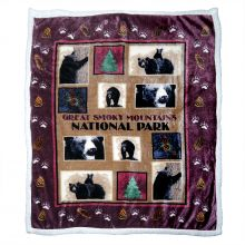 Eco Friendly Black Bear Park Scene Throw