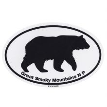 Large Oval Black Bear Sticker