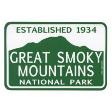 GSMNP Green & White Rectangle Sticker