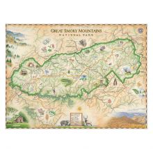 Hand-Drawn Smoky Mountain Map