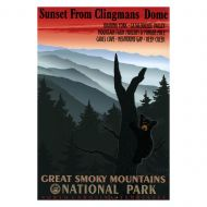 WPA Retro GSMNP Sunset from Clingmans Dome Poster