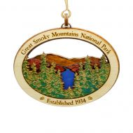 GSMNP Mountain View Wood Ornament