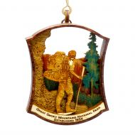 Wood Ornament Hiker