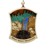 Great Smoky Mountains with Bear Wood Ornament