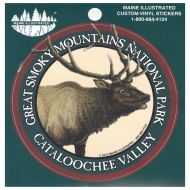 Elk in Cataloochee Valley Bumper Sticker (Round)