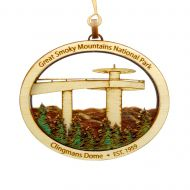 Clingmans Dome Wood Ornament