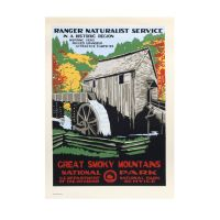 WPA Retro GSMNP Cable Mill Poster