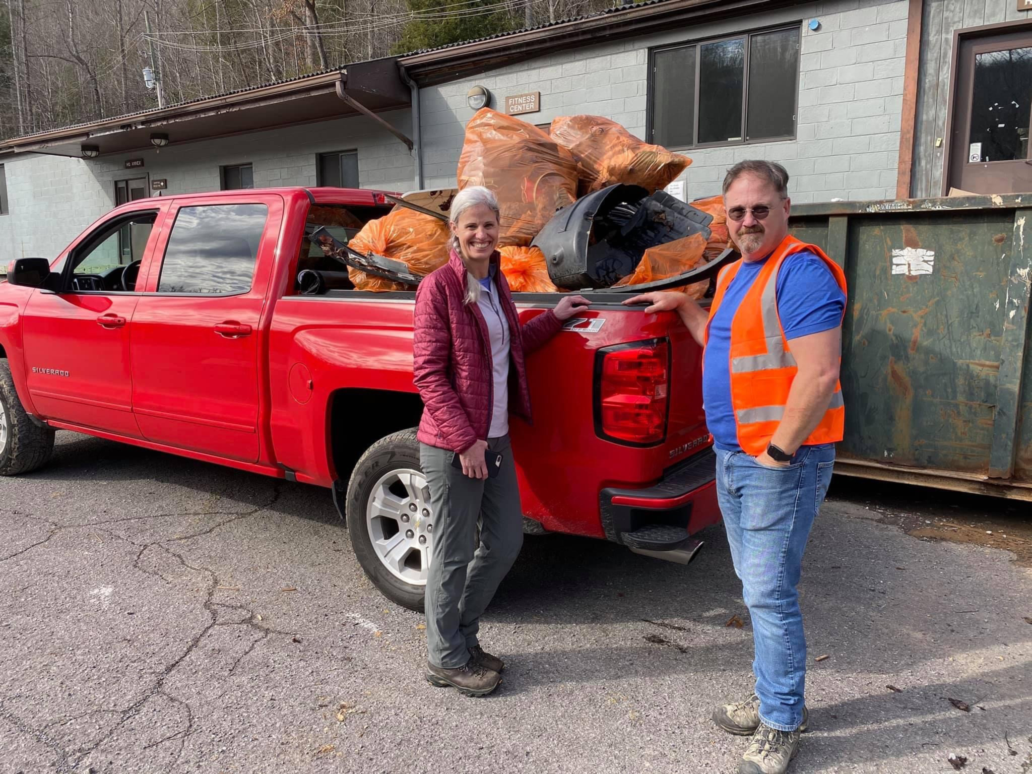 Jerry and Darlene Willis are saving Great Smoky Mountains National Park, one piece of litter at a time. Jerry is founder and president of Save Our Smokies (S.O.S.), one of many groups that work together as Litter Patrol volunteers. Image courtesy of Jerry and Darlene Willis.