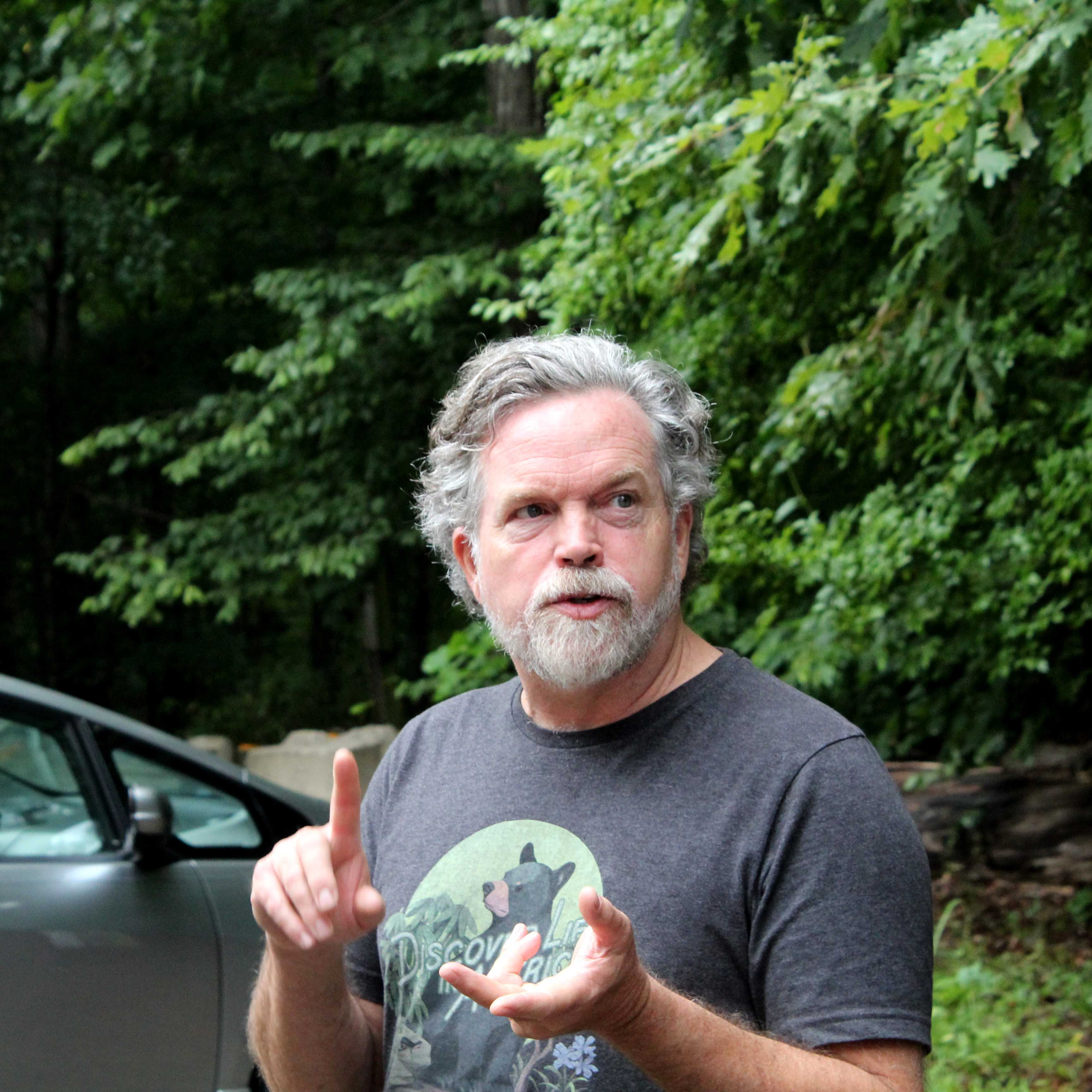 Todd Witcher, executive director of Discover Life in America, educates community scientists about how to collect and identify species during a bioblitz. Photo courtesy of Xavier Reyes.