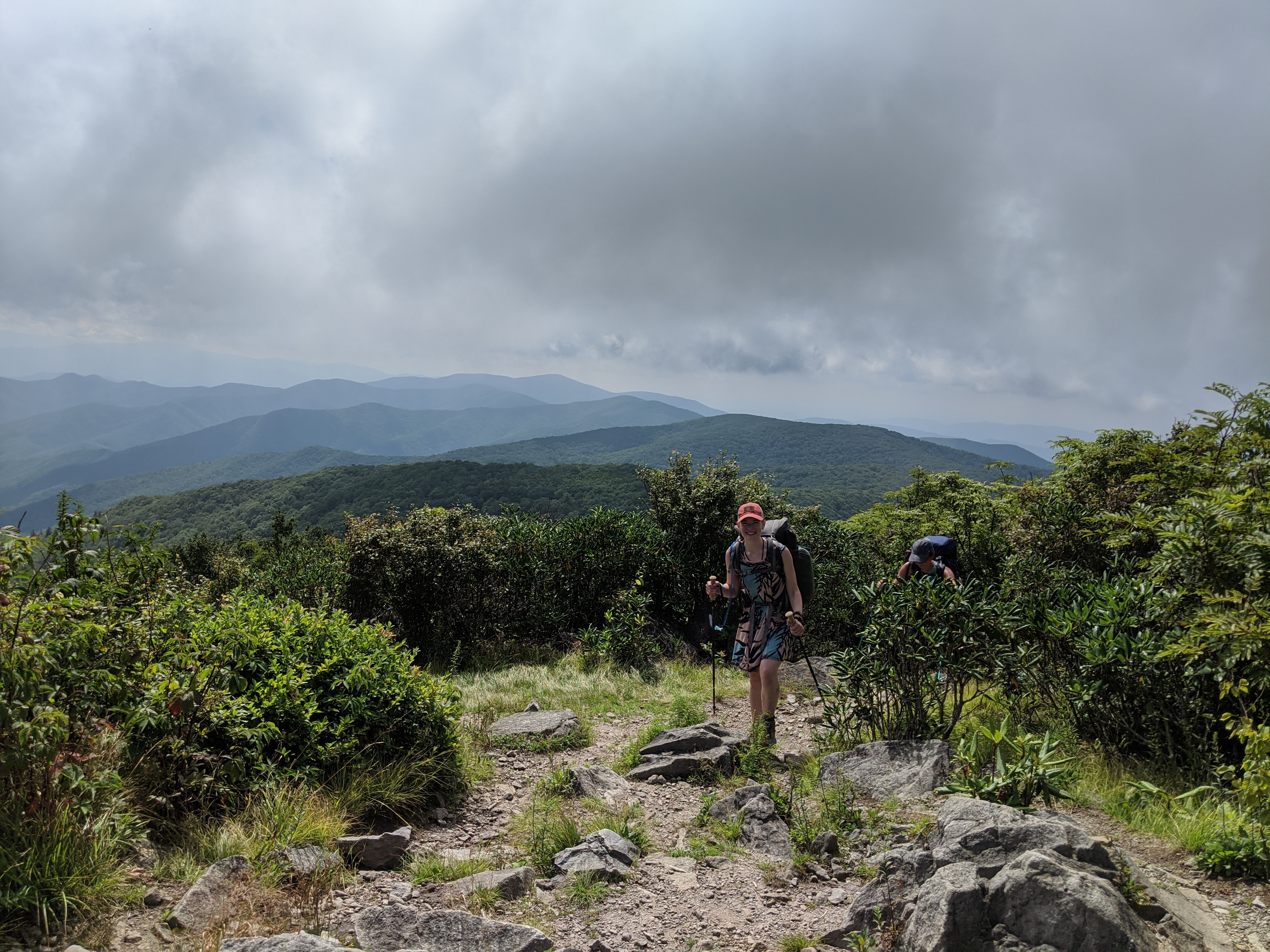 Korrin Bishop, a freelance writer who was drawn to the Smokies after living near other national parks, enjoying habitat at Rocky Top along the Appalachian Trail in GSMNP. Photo courtesy of Stephanie Rockwood.