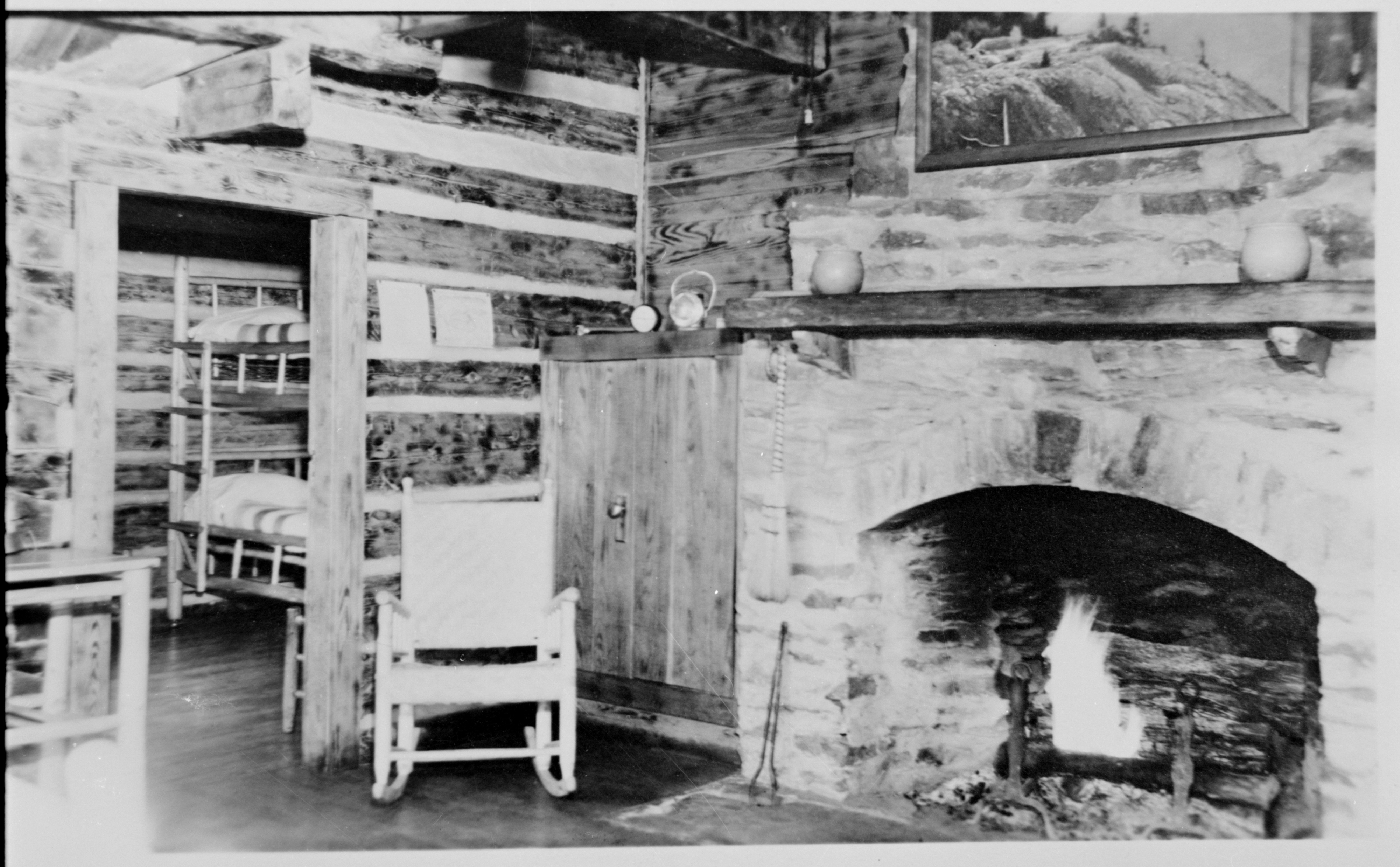LeConte Lodge, circa 1937. Photo by Jack Huff, courtesy Open Parks Network.