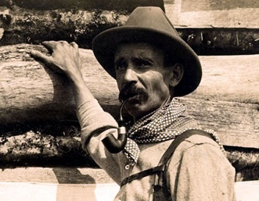 Horace Kephart in the pre-national park Smokies. Photo courtesy of Hunter Library Special Collections.
