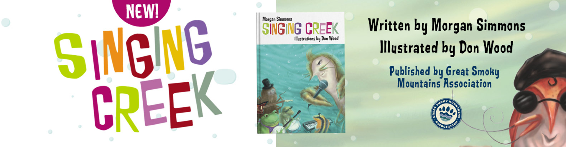 Singing Creek Banner - 500px Height