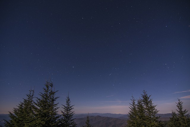 Night view of Clingmans Dome