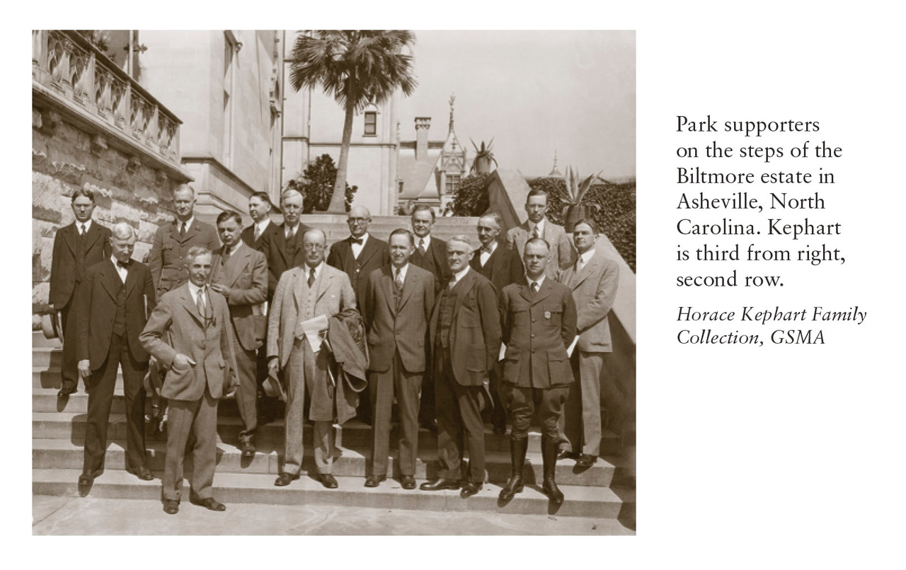 Historic photo of park supporters