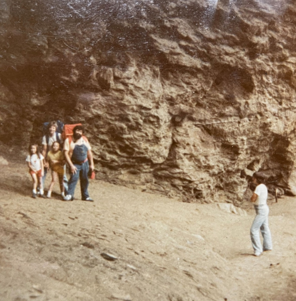 Valerie Polk and family at Alum Cave in the 80s