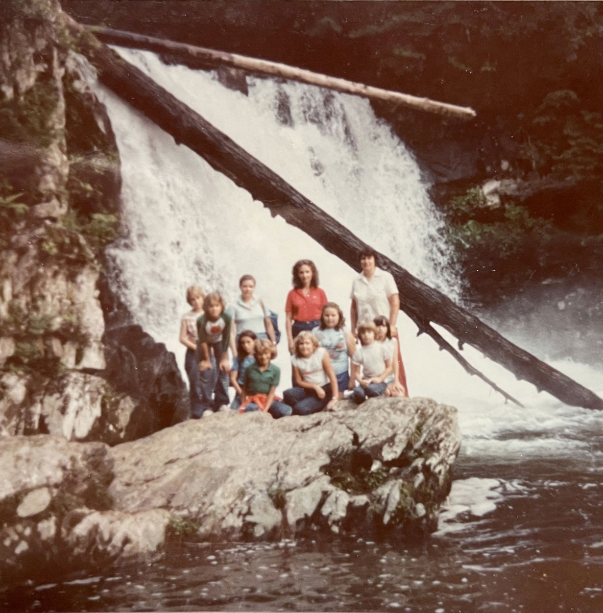 Valerie Polk and sister Martha at Abrams Fall in 1977