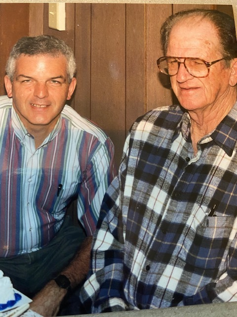 Mike Hembree and his father, Wilburn Hembree