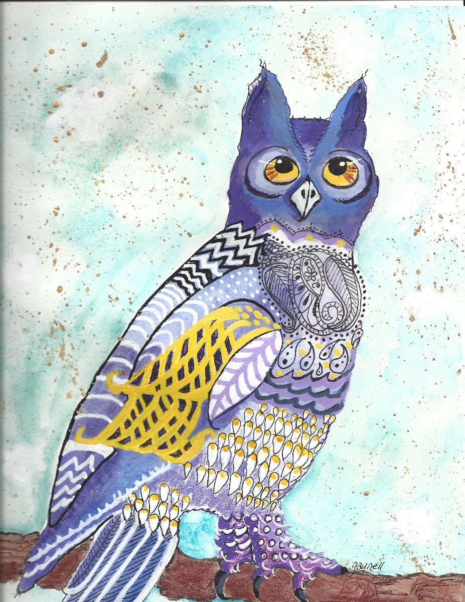 Great Horned Owl by Gaynell Lawson
