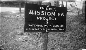 Mission 66 project sign